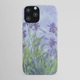 """Claude Monet """"Iris mauves"""" iPhone Case"""