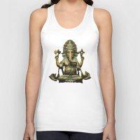 ganesha Tank Tops featuring Ganesha by Justin Atkins