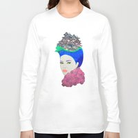 japan Long Sleeve T-shirts featuring Japan by Luna Portnoi