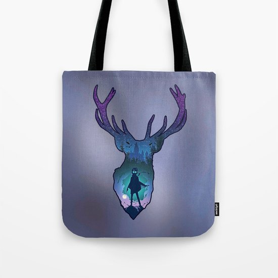 Harry Potter and His Stag Patronus Book Bag. What a great way to carry your library books!