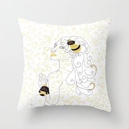 Lauren Bee II Throw Pillow