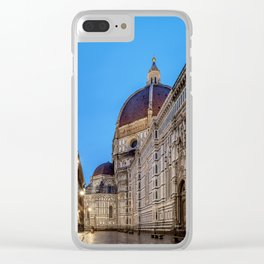 Santa Maria del Fiore Cathedral at dawn, Florence, Tuscany, Italy Clear iPhone Case