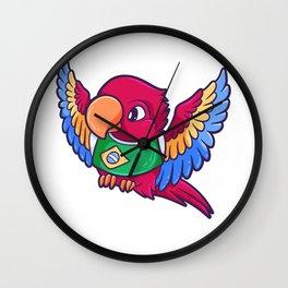 Brazil parrot colorful bird cockatoo Wall Clock