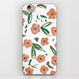 Live Simply Floral Pattern iPhone Skin