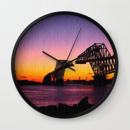 gate bridge Wall Clock