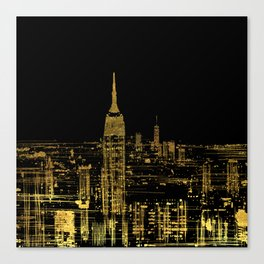 Abstract Gold City  Skyline Design Canvas Print