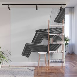 buildings in the city in black and white Wall Mural