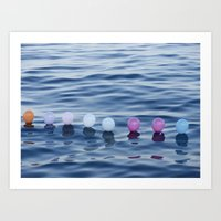 baloon Art Prints featuring baloon sea by sohomax