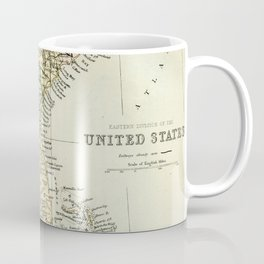 Vintage Map of the South Of The United States Of America Coffee Mug
