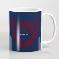 will graham Mugs featuring House Graham by Alecxps