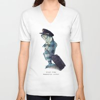 plane V-neck T-shirts featuring The Pilot by Eric Fan