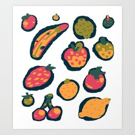 Oops, dropped the fruit bowl! Art Print