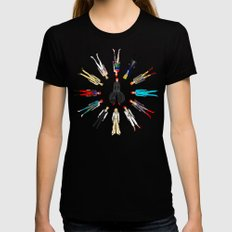 Bowie Circle Group Womens Fitted Tee Black SMALL