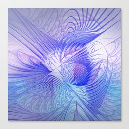 blue and lilac on texture Canvas Print