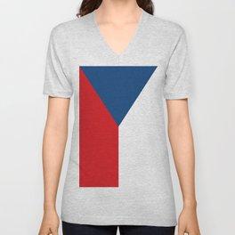 Flag of Czech Republic Unisex V-Neck
