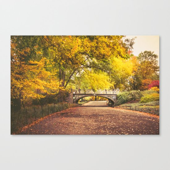 Autumn Path - Central Park - New York City Canvas Print