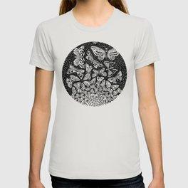 Escher - Butterflies Tessellation T-shirt