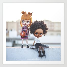 Carmencita & Nippy Blythe doll by Erregiro Art Print