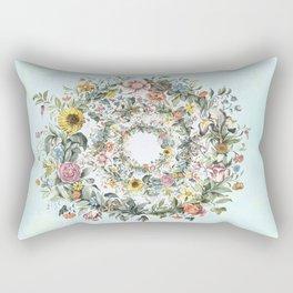Circle of Life Blue Rectangular Pillow