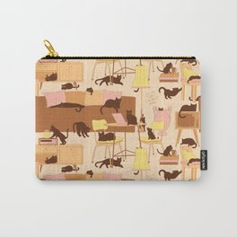 Cats in the house Carry-All Pouch