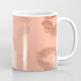 Sweet Life Lips Peach Coral Pink Shimmer Coffee Mug