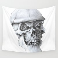 golf Wall Tapestries featuring Golf Skull by Michael Hewitt