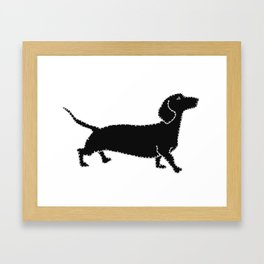I have Connected the DACHSHUND Doggy Dots! Framed Art Print