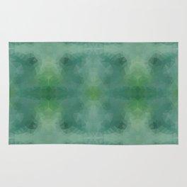 Kaleidoscopic design in green colors Rug