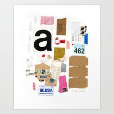 Paper Trail I  Art Print