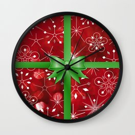 Christmas Gift Wall Clock