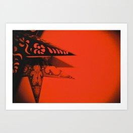 Red Stars Art Print