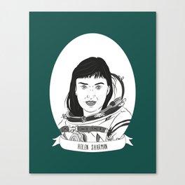 Helen Sharman Illustrated Portrait Canvas Print