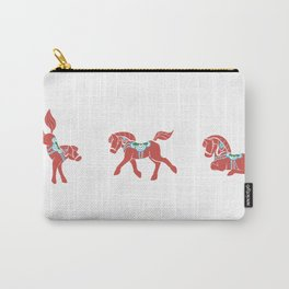 Lovely Little Dala Horses Carry-All Pouch