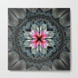 Artistic fractal fantasy flower and petals Metal Print
