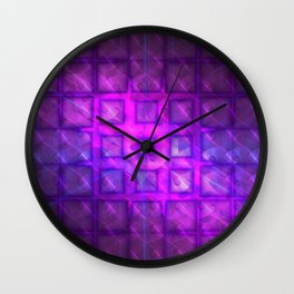Shiny Purple Buttons [Remix] Wall Clock