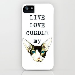 Live Love Cuddle iPhone Case