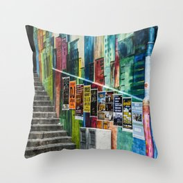 Basel Walls Throw Pillow