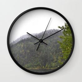 Season's First Snow Wall Clock