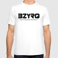 BZYRQ Logo (Black on White) SMALL White Mens Fitted Tee