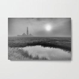 Lighthouse Westerhever Metal Print