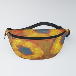 Sunflowers with a golden sun Fanny Pack