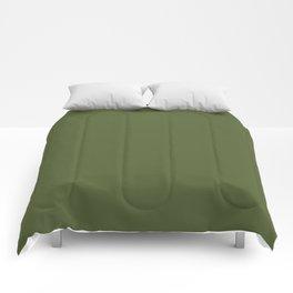 Peony Drama ~ Garden Green Coordinating Solid Comforters
