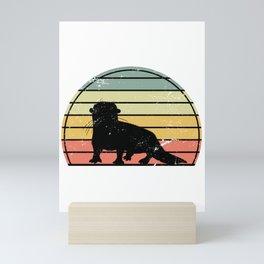 Otter Retro Mini Art Print