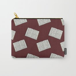 Open Book Pattern (Red) Carry-All Pouch