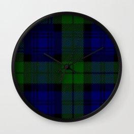 Scottish Campbell Tartan Pattern-Black Watch #2 Wall Clock