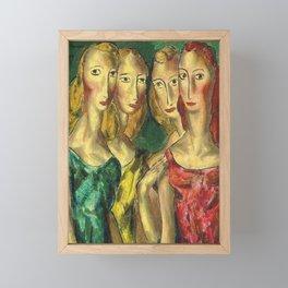 Four Sisters by Alfred Henry Maurer Framed Mini Art Print