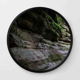 Rock forms in Starved Rock State Park Wall Clock