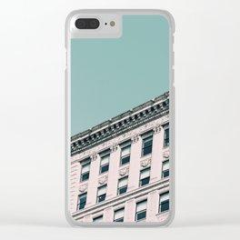Vintage Blues Clear iPhone Case