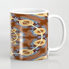 Blue Wood Kaleido Pattern Mug