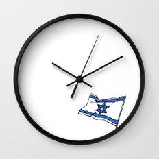 Israeli Flag Wall Clock